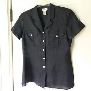 TALBOTS Irish linen Blouse NWOT Size 10